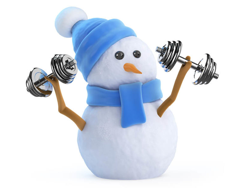 . Winter clipart fitness