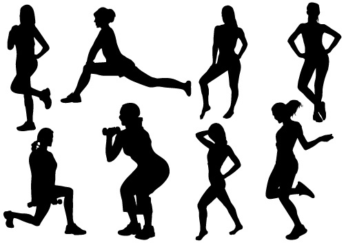 Exercise clipart woman exercise. Free women cliparts download