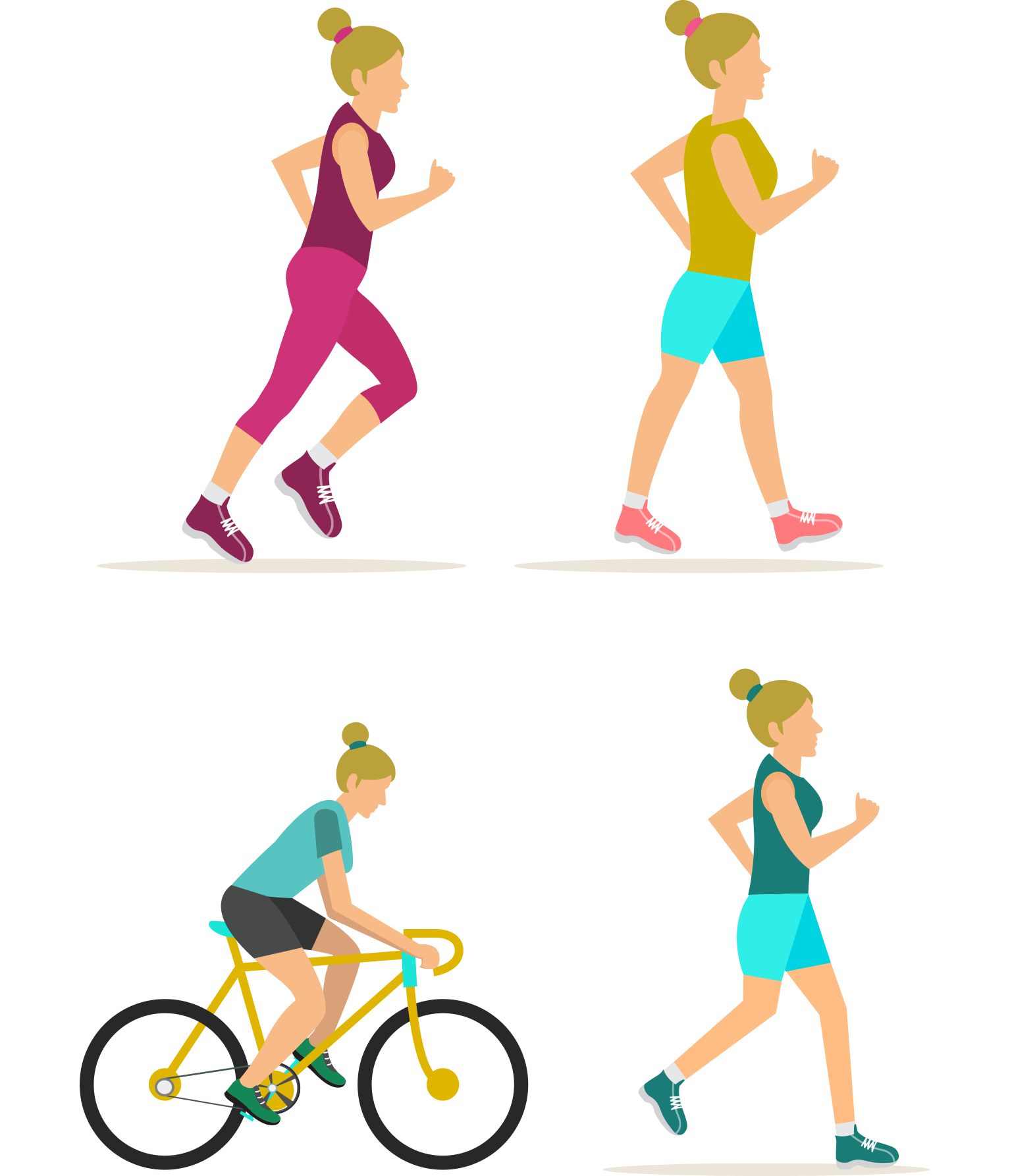 Physical fitness centre stretching. Clipart exercise woman exercise