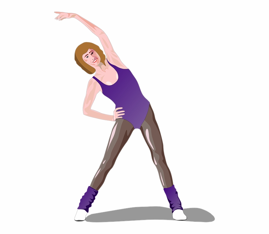 Stretching female fitness healthy. Exercise clipart woman exercise