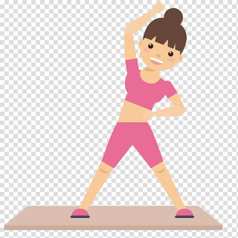 Stretching illustration physical fitness. Exercise clipart woman exercise