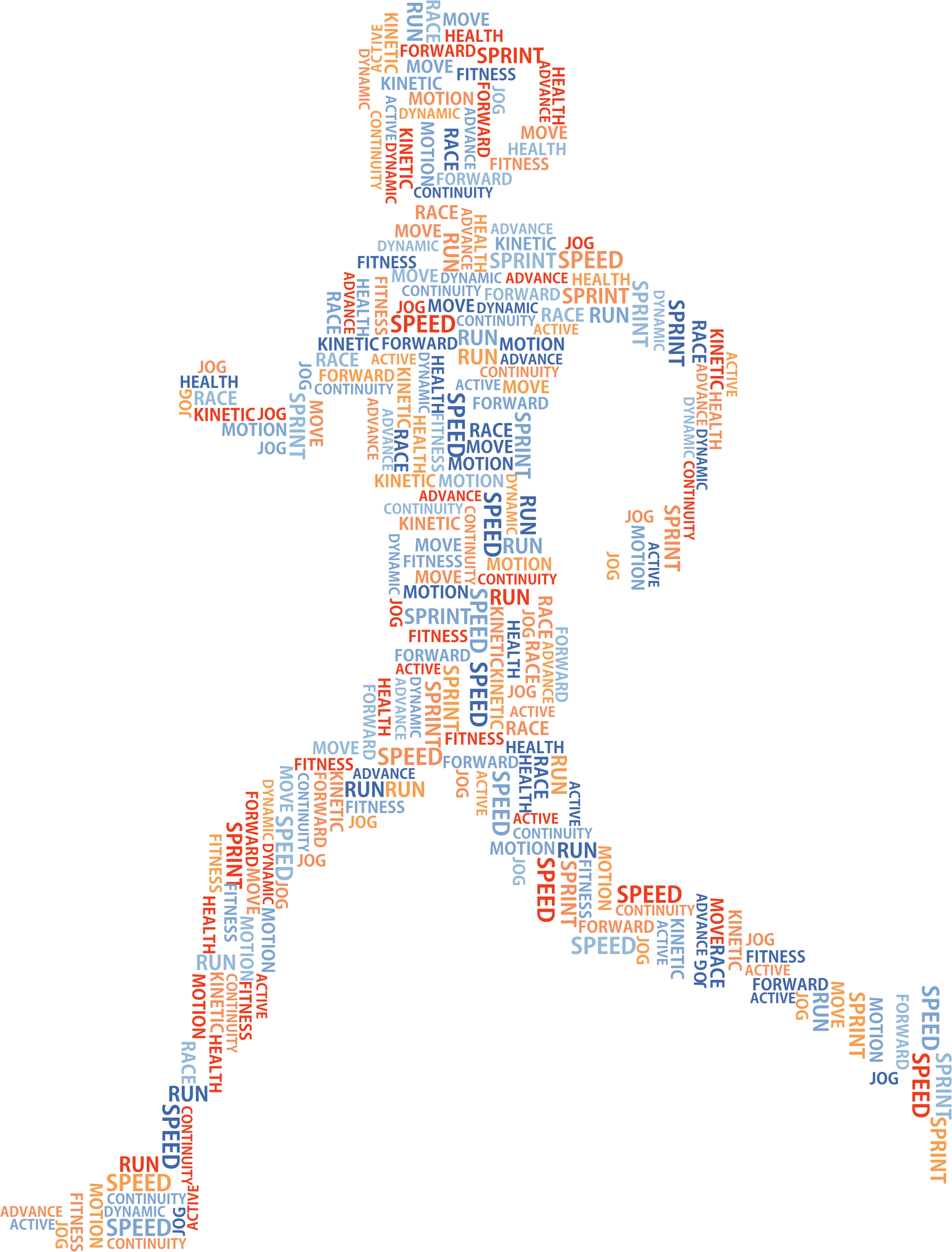 Exercise clipart word. Woman running cloud no