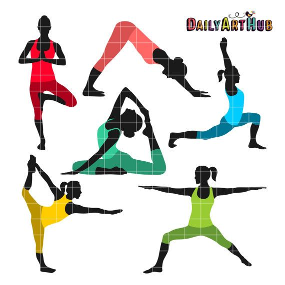 Poses clip art moves. Exercise clipart yoga