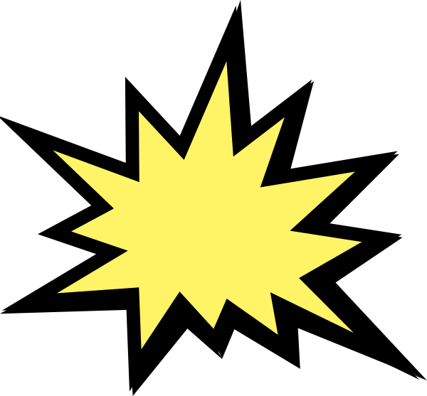 Explosion clip art at. Clipart shapes comic