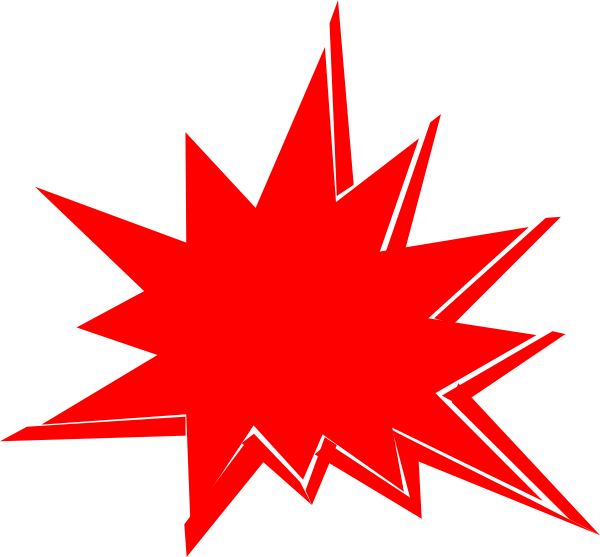 Clipart explosion animated. Red clip art at
