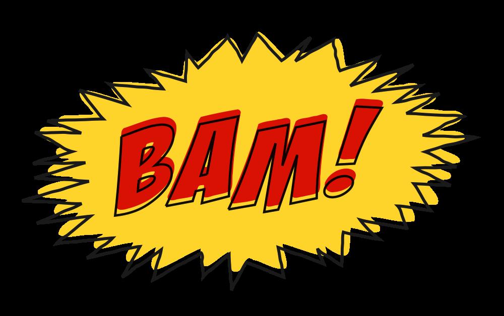 Explosion clipart bam. Onlinelabels clip art comic