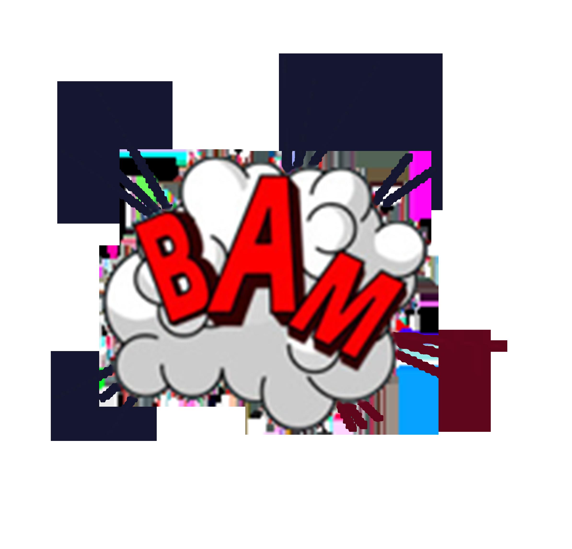 Explosion clipart bam. Explosive effect transprent png