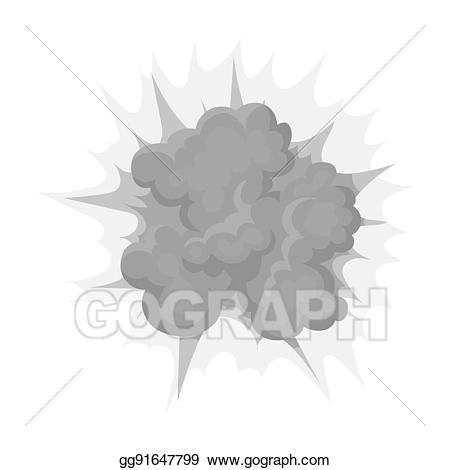 Icon in monochrome style. Clipart explosion bitmap