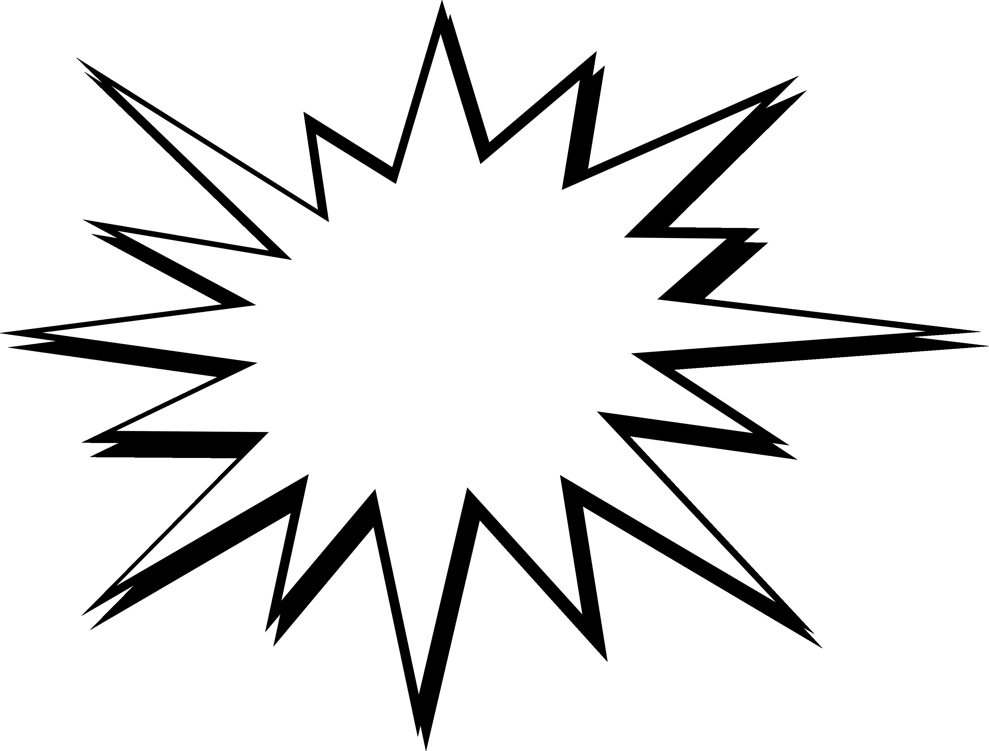 comic boom vector. White clipart explosion