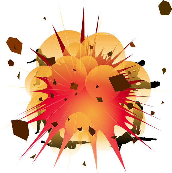 collection of bomb. Clipart explosion blast off