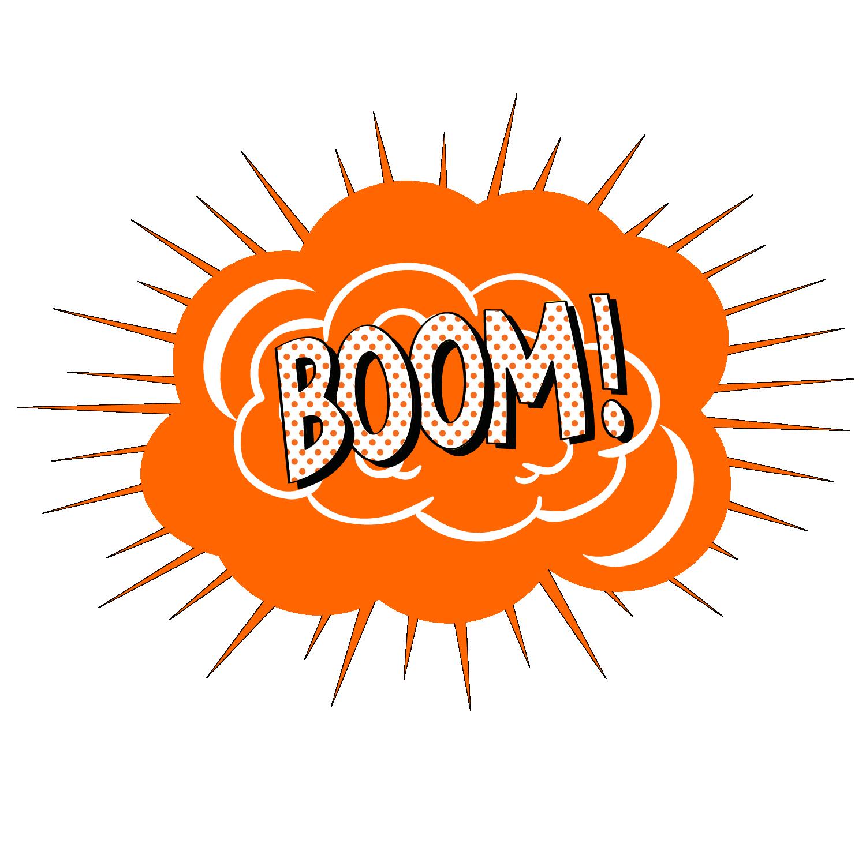 Clipart explosion boom. Vector cartoon effect transprent