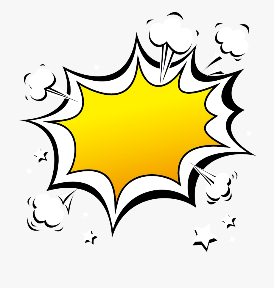 Clipart explosion border. Comic png free