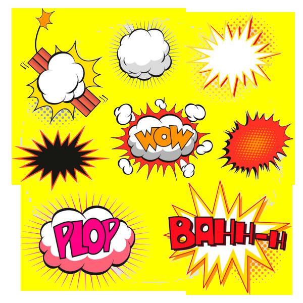 Comics speech balloon illustration. Explosion clipart bubble