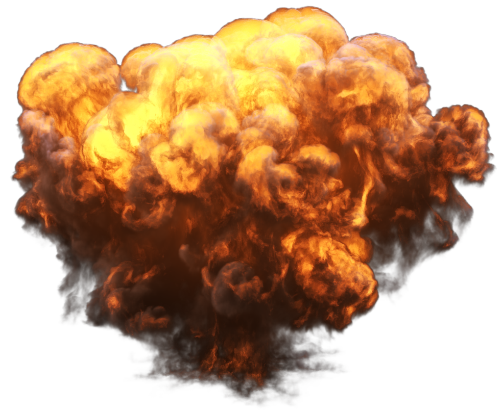 Big with fire and. Flames clipart realistic explosion