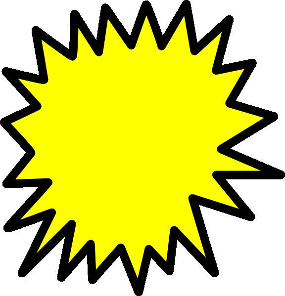 Explosion clipart bubble. Yellow comic callout clip