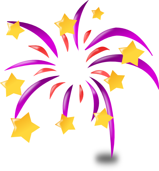 Animated fireworks for powerpoint. Congratulations clipart pink