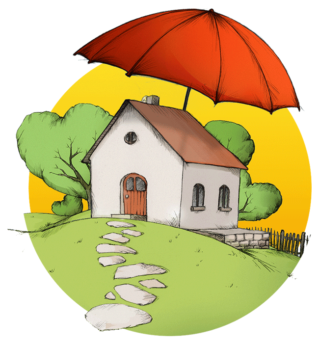 Cheap home insurance find. Earthquake clipart broken house