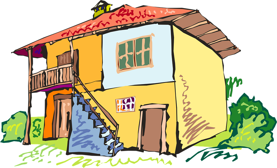 Picture of shop library. Clipart explosion cartoon house