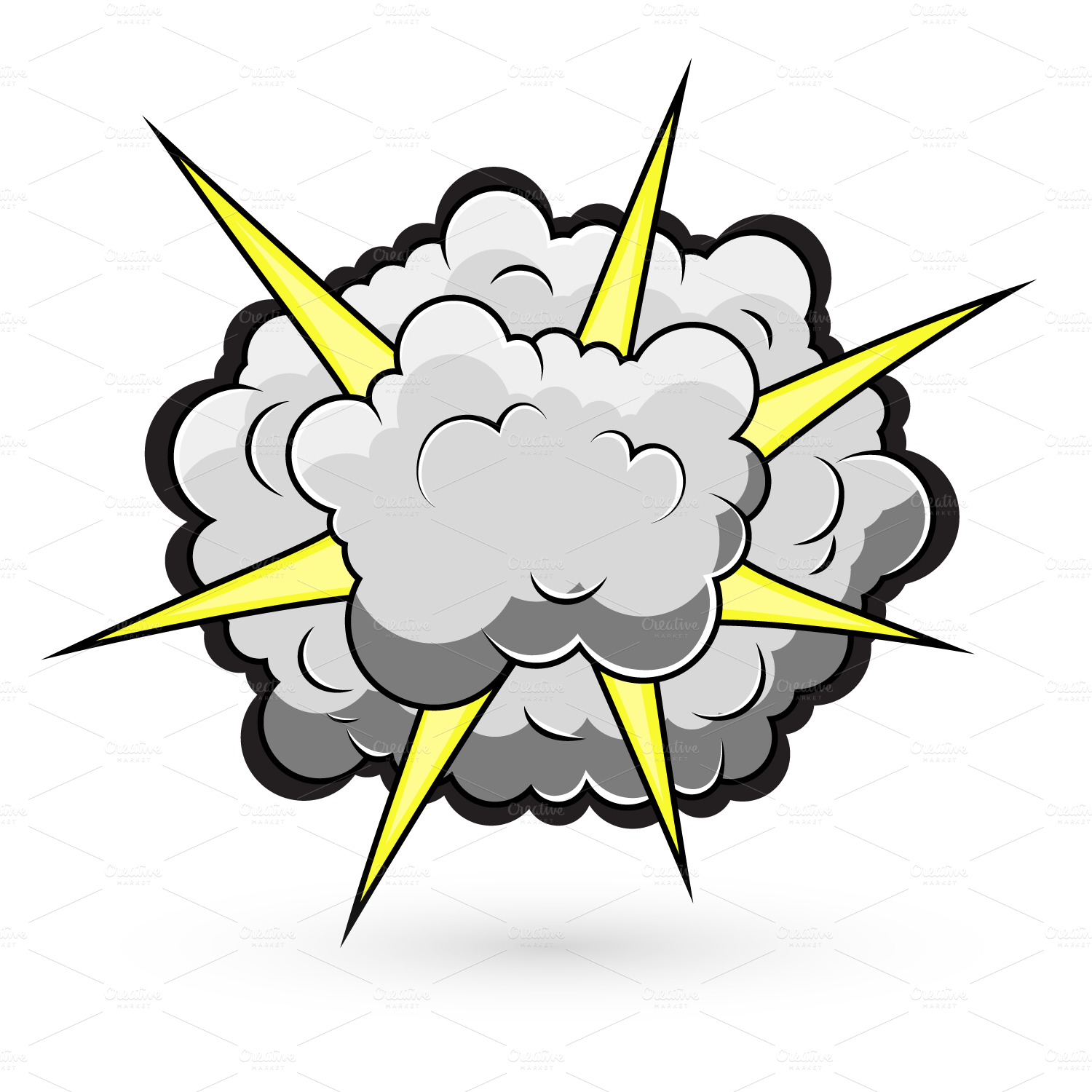 Smoke free collection download. Clipart explosion cartoon house