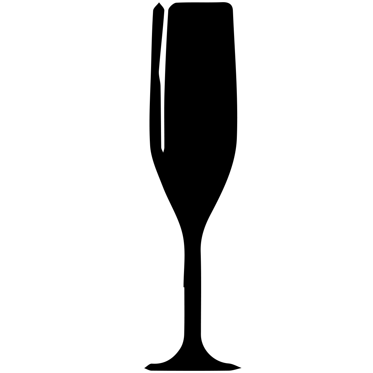 Champagne glasses at getdrawings. Silhouette clipart wine glass