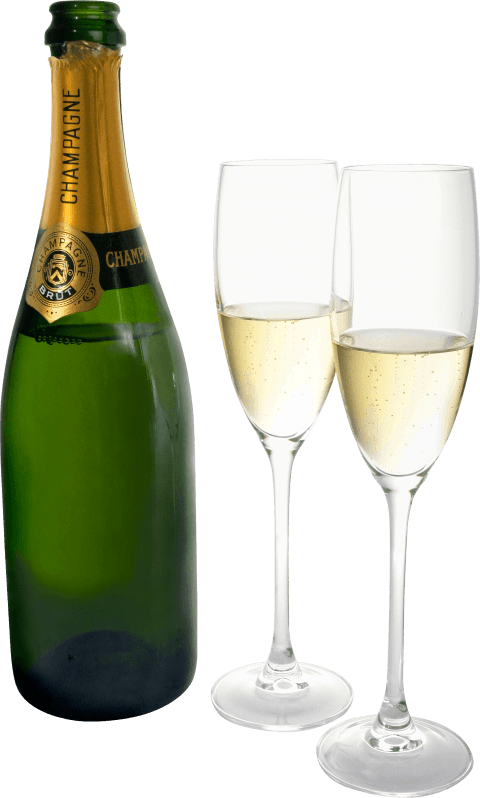 Glasses clipart pop. Champagne two bottle png