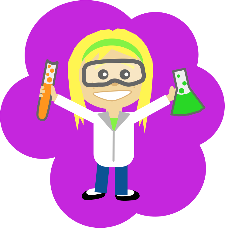 Science girl medium image. Winter clipart safety