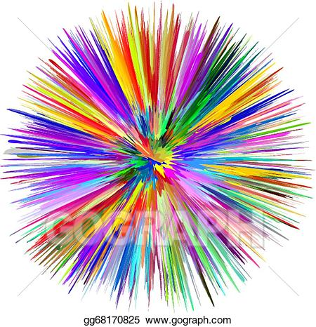Vector art eps gg. Clipart explosion colorful explosion