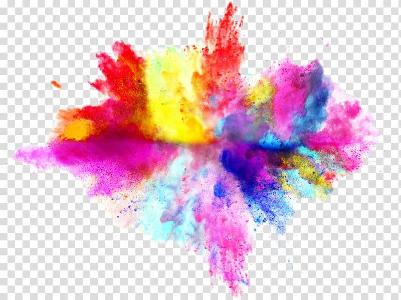 Clipart explosion colorful explosion. Multi colored powder color