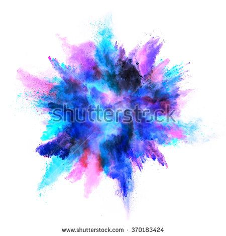 Of colored powder isolated. Clipart explosion colorful explosion