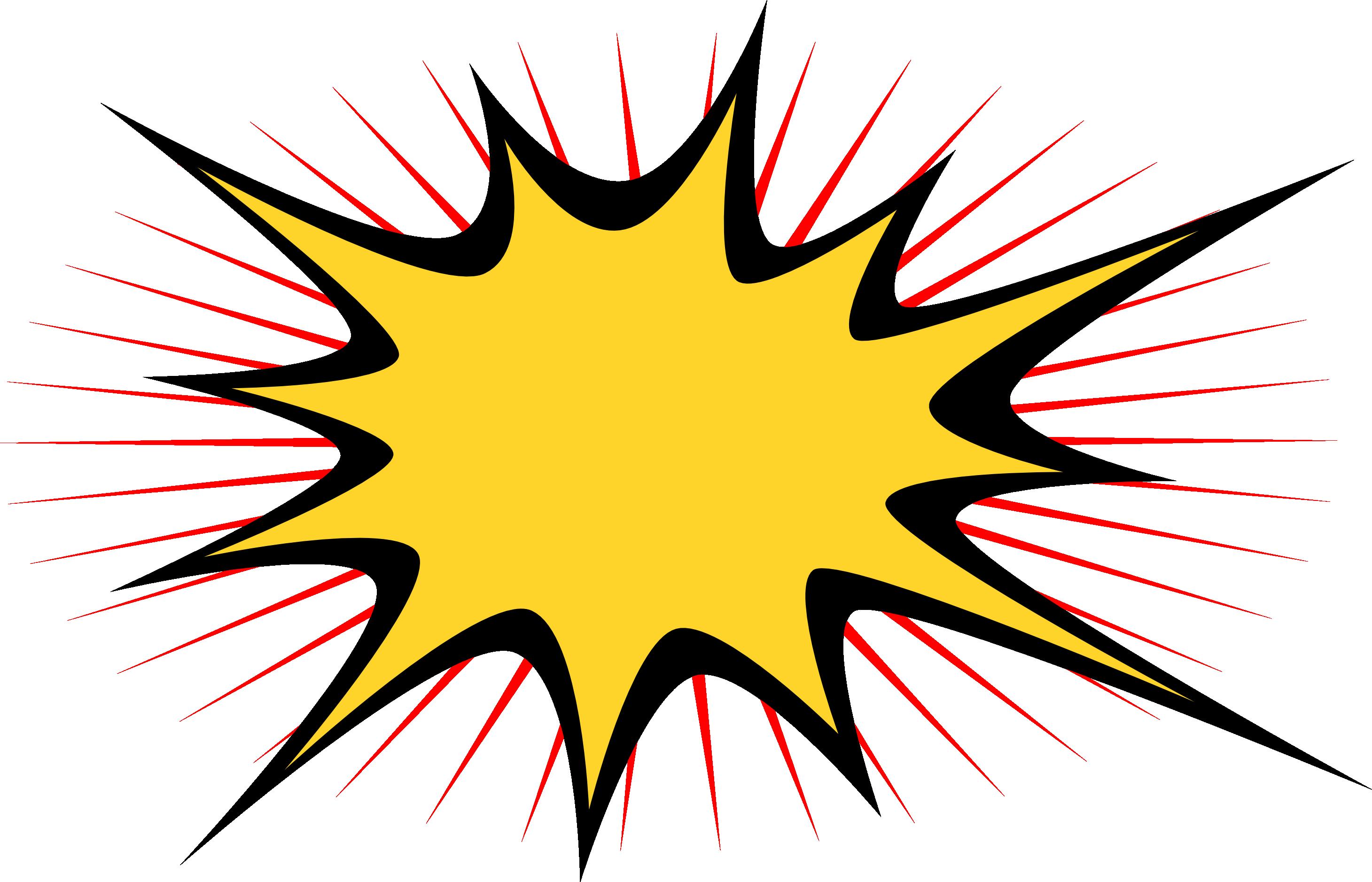 Comics clip art transprent. Clipart explosion comic book