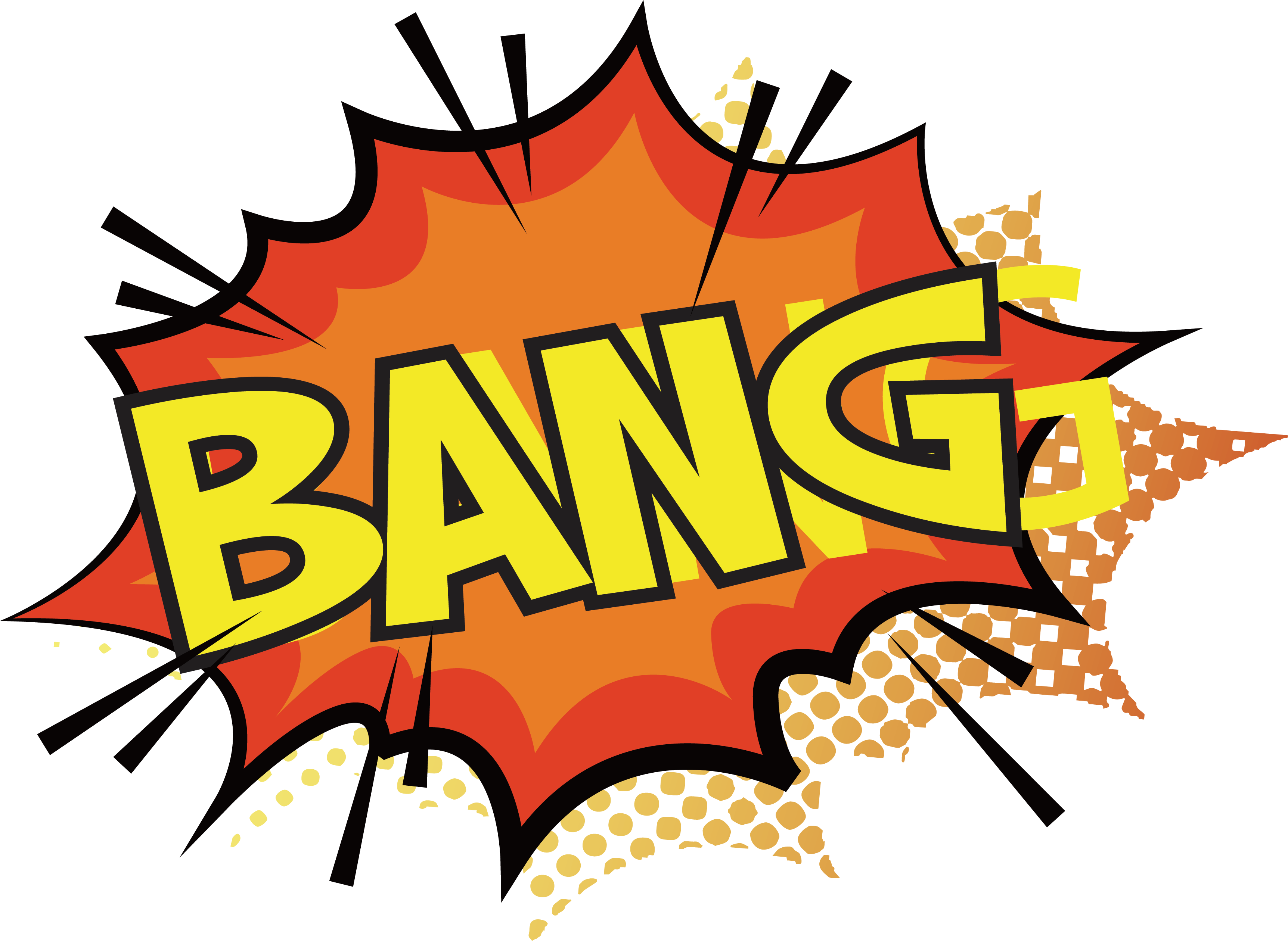 Explosion comic book