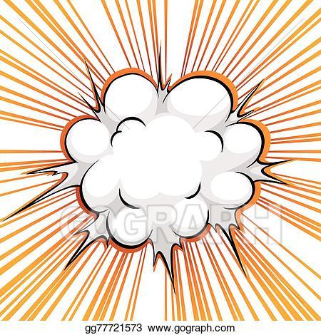 Clipart explosion comical. Vector art comic balloon