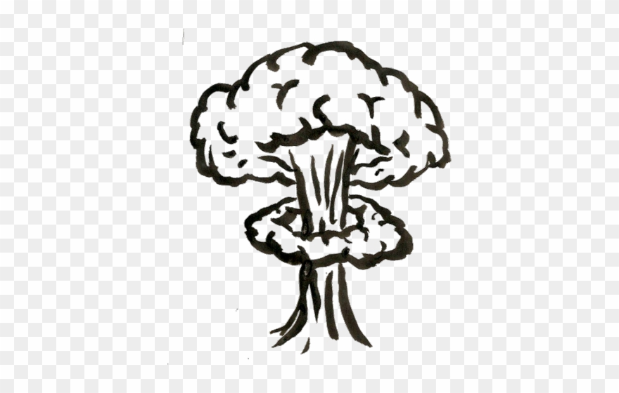 Nuclear drawn . Clipart explosion drawing