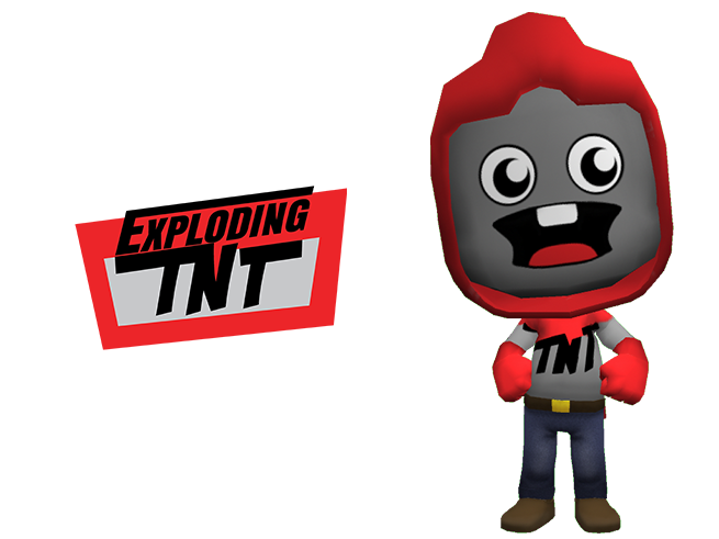 Tube heroes racers explodingtnt. Clipart explosion dynamic character