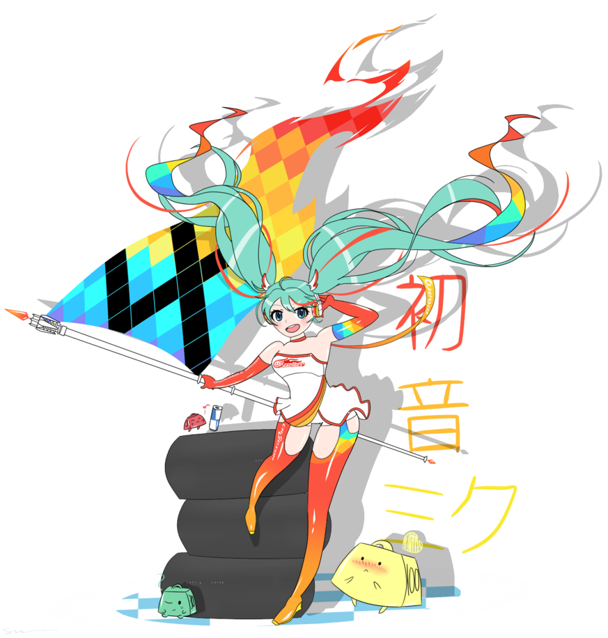 Racing miku by catty. Clipart explosion dynamic character