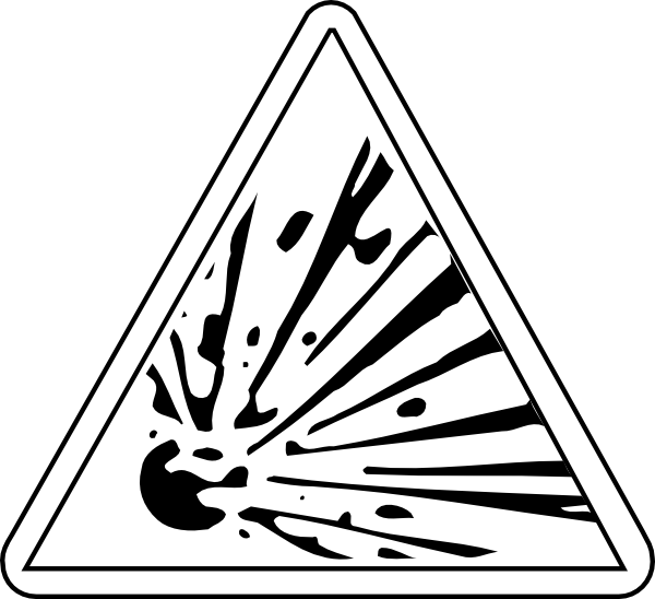 Coffin clipart black and white. Caution explosive bw clip