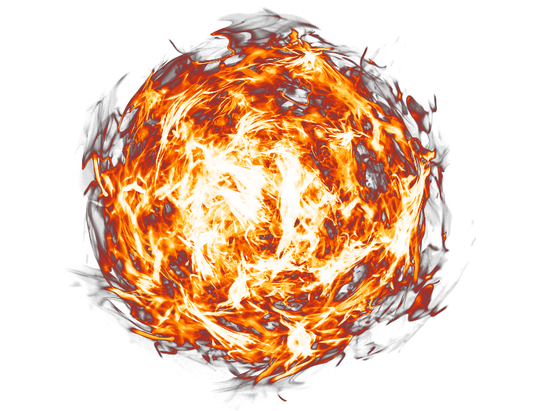 Fireball fire and textures. Smoke transparent background png