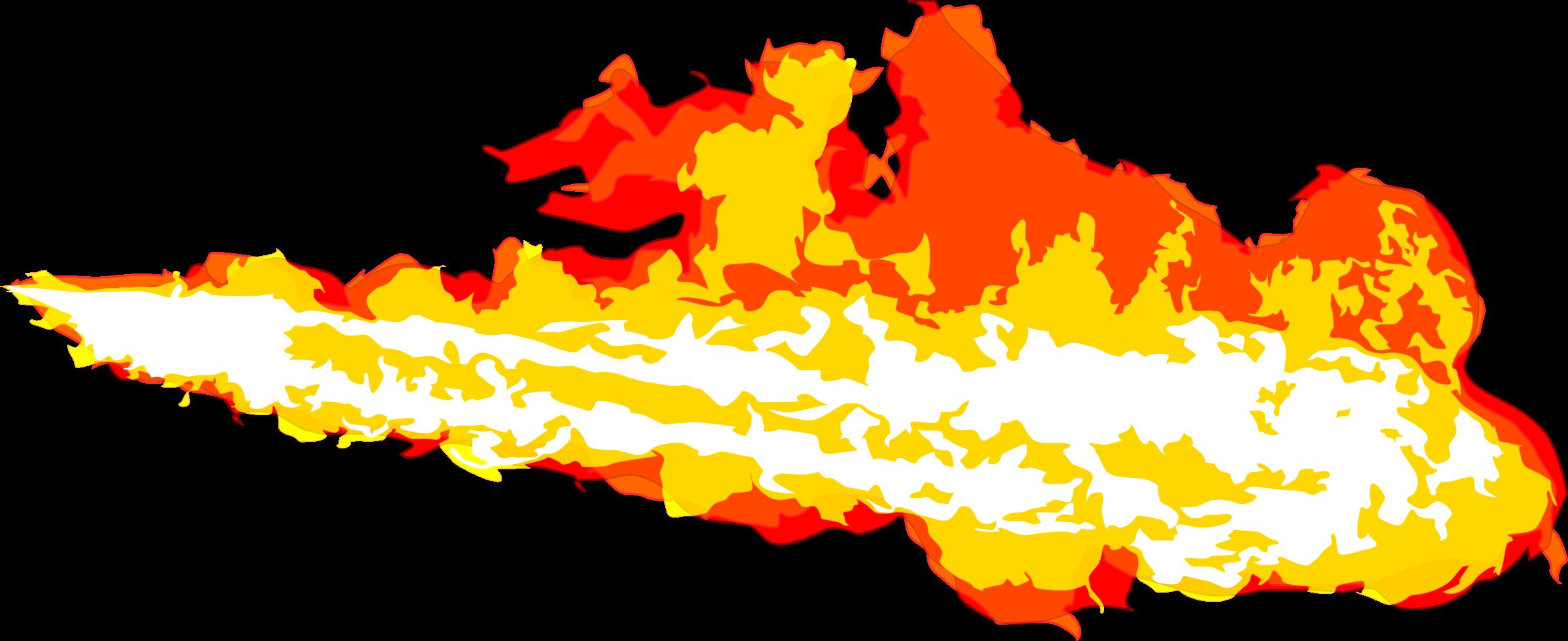 Flamethrower stream big image. Explosion clipart fiery