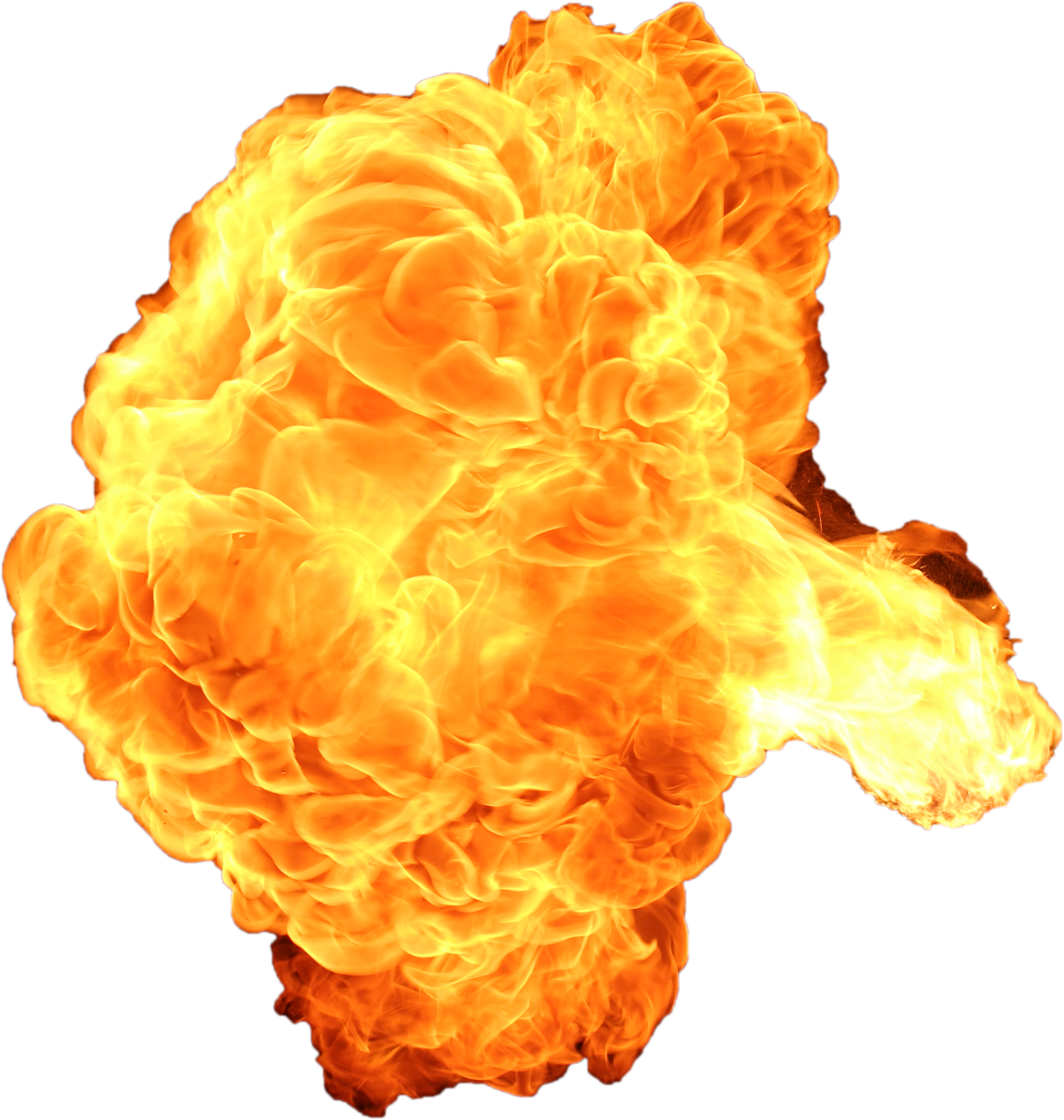 Yellow smoke png. Big explosion with fire