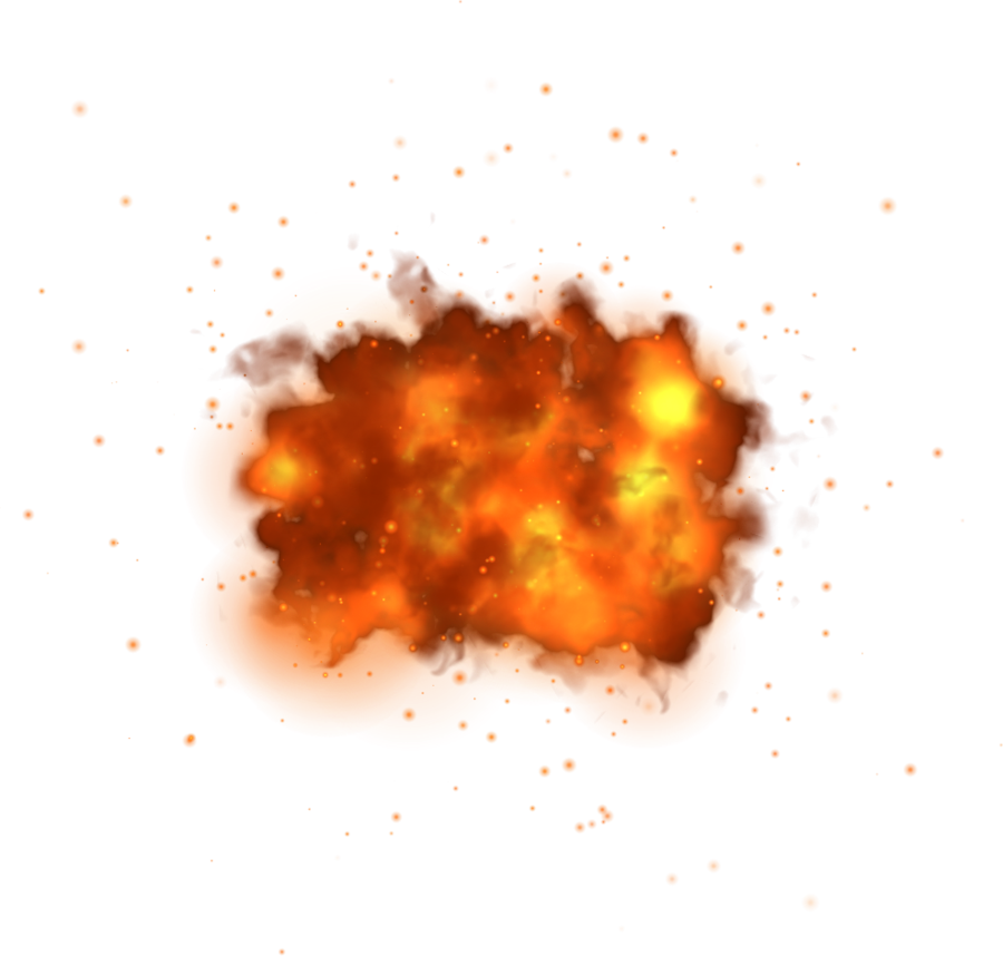 Misc fie element png. Fire clipart explosion