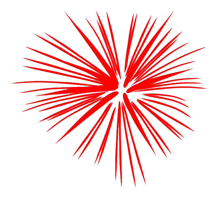 clipart fireworks red #71191713