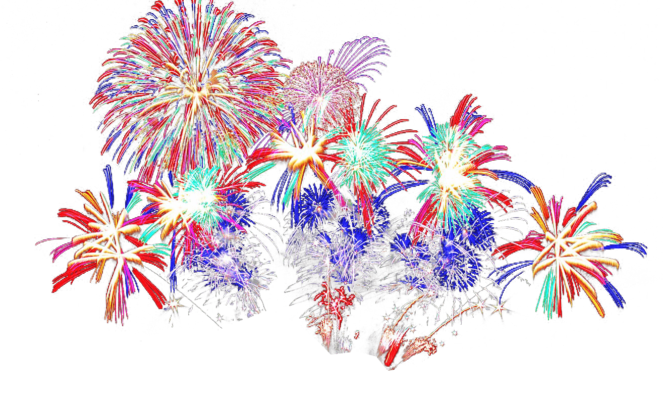 Clipart fireworks transparent background. Png stickpng