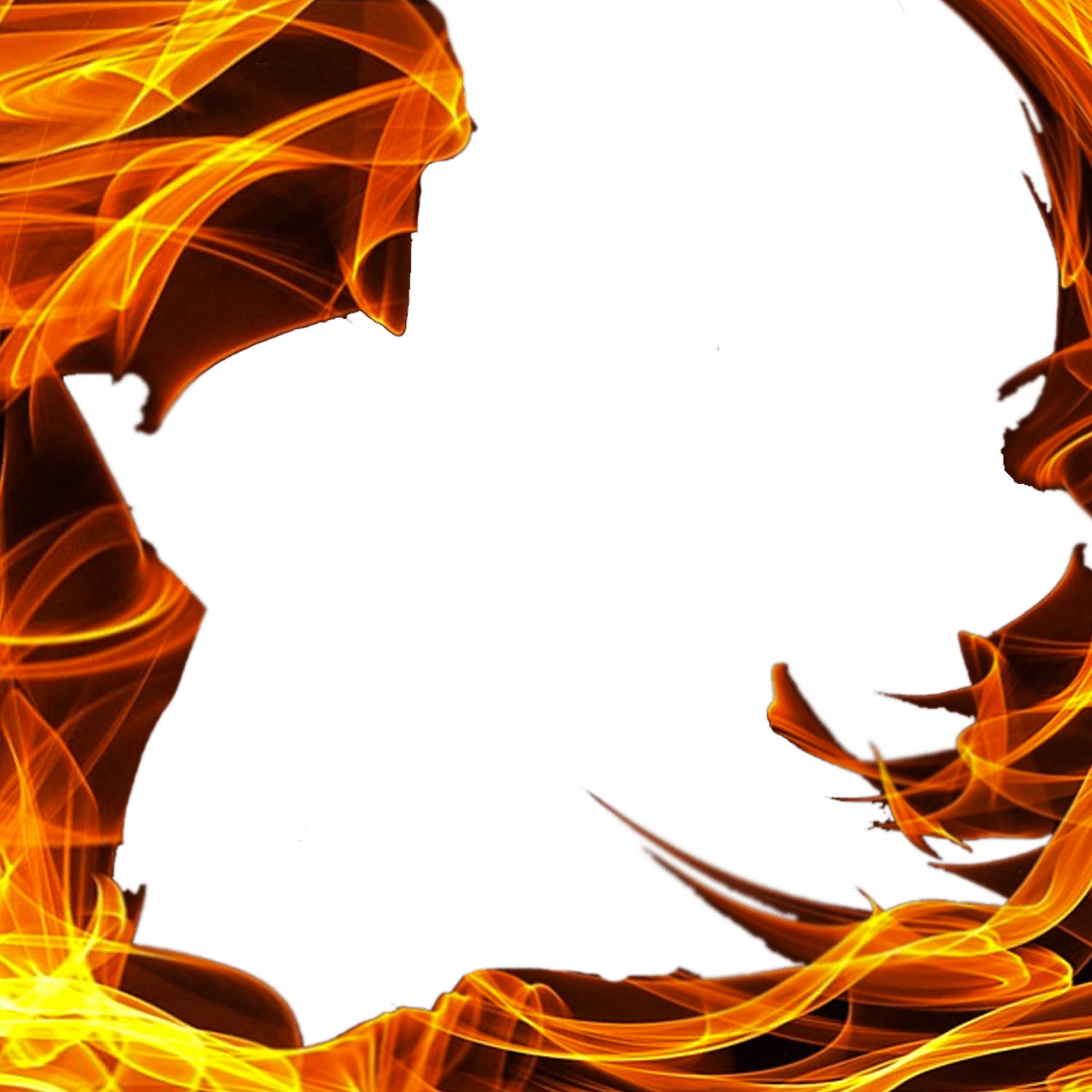 Square transparent png stickpng. Frame clipart fire