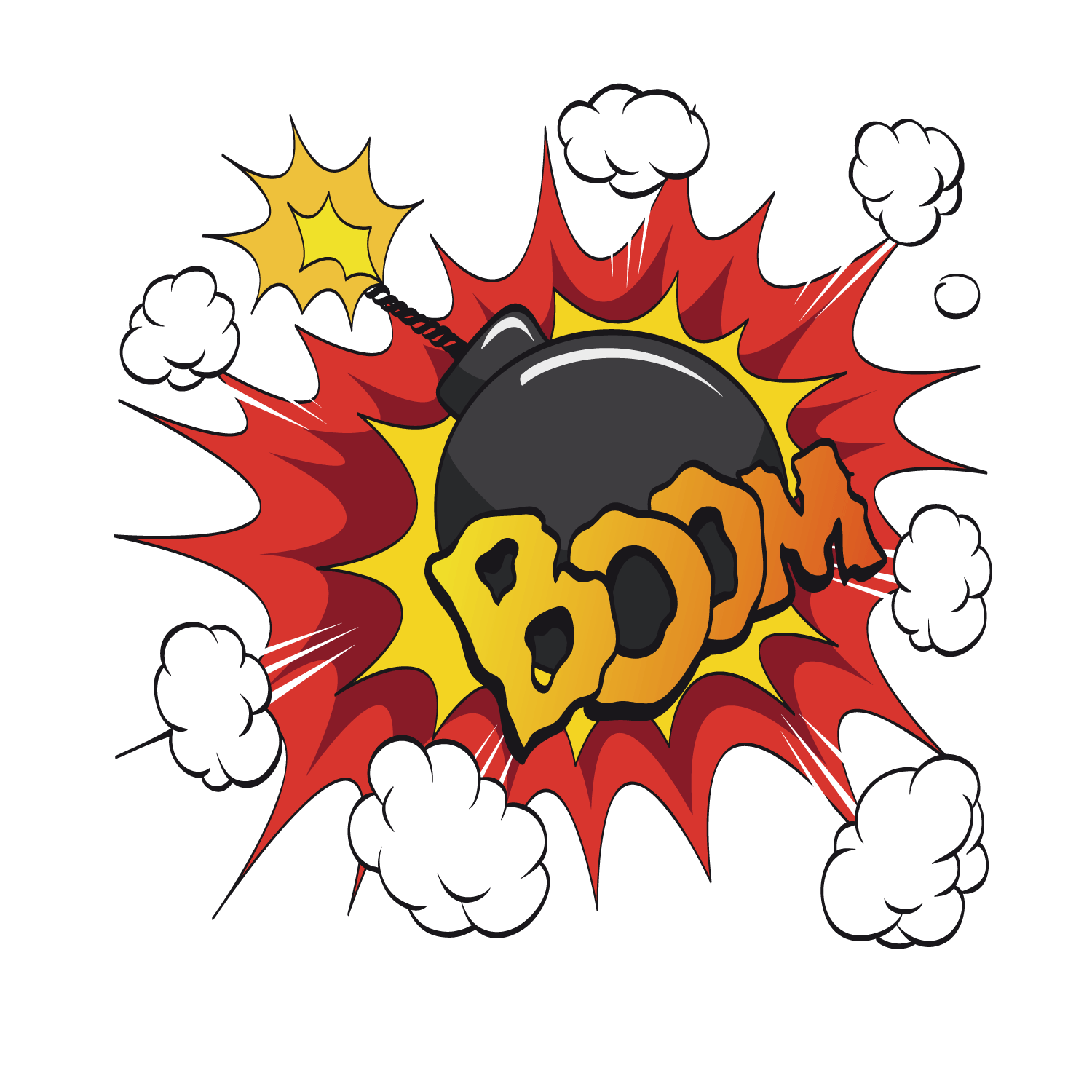 Explosion clipart gas bomb. The exploded transprent png