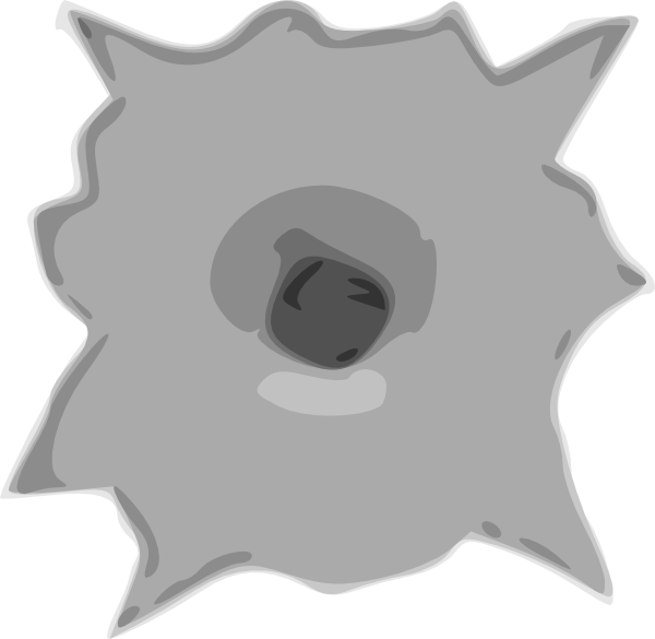 Hole clip art at. Explosion clipart bullet