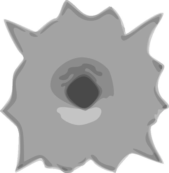 Explosion clipart bullet. Hole clip art at