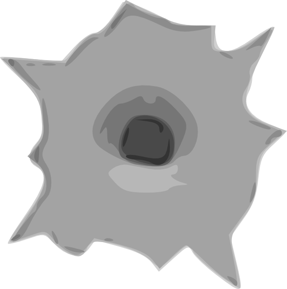 Hole clipart painting. Bullet clip art at