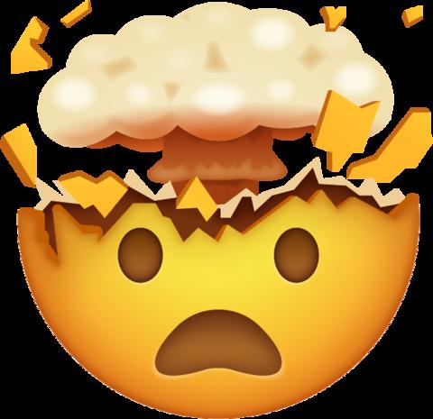 Clipart explosion head explosion. Exploding face emoji