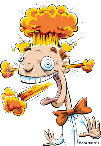 Clipart explosion head explosion. A smiling happy cartoon