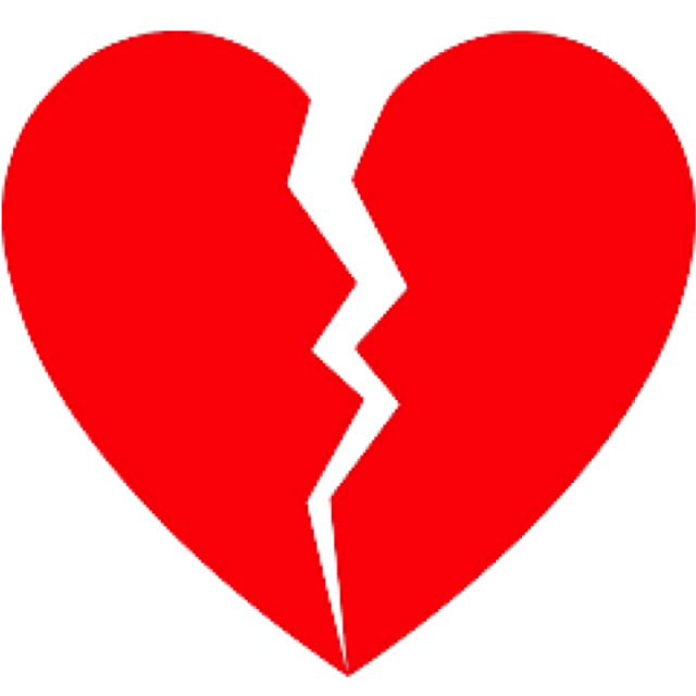 Hearts vector png. Broken heart or splitted